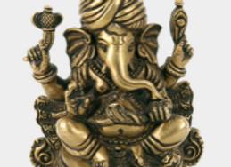 Ganesh turban doré - Inde - 12 cm