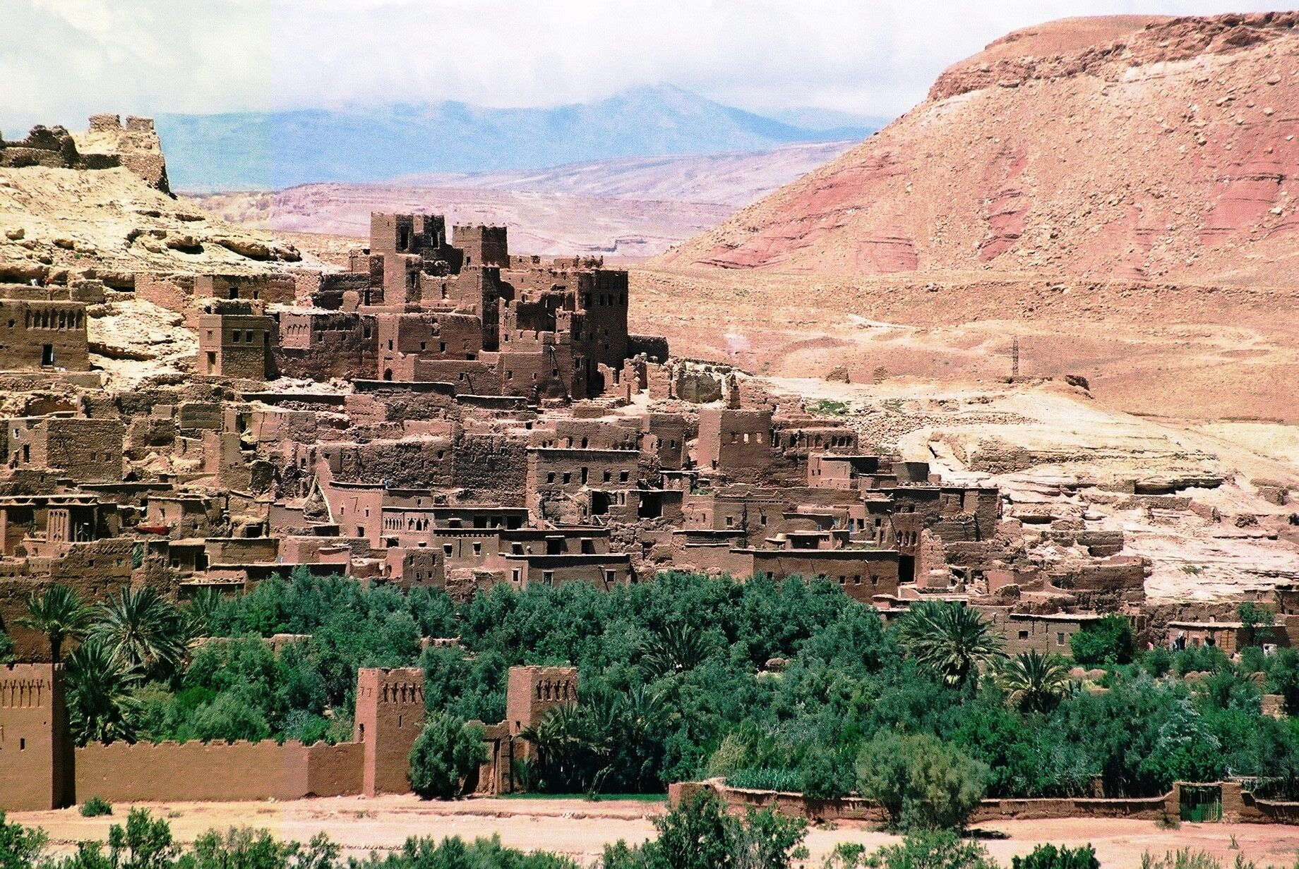 Village and Atlas Mountains