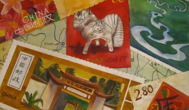 China Stamp Paintings