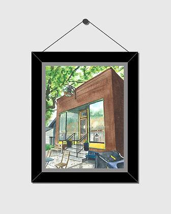 Jefferson Market Ann Arbor Watercolor Print