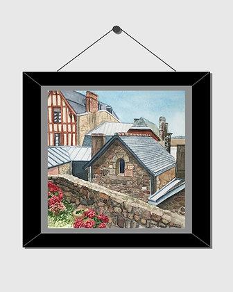 Mont Saint-Michel Watercolor Print