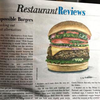 Burger in Paper