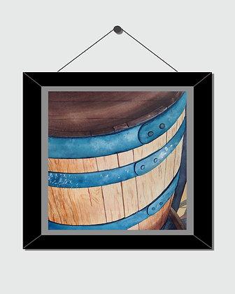 Historic Barrel Watercolor Print