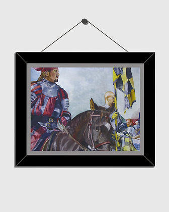 Knights on Horseback Watercolor Print