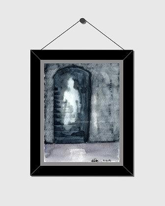Ghost Watercolor Print