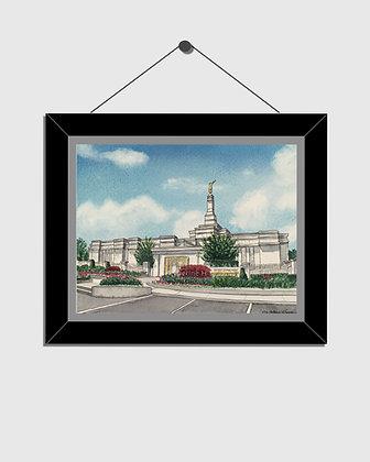 Detroit LDS Temple Watercolor Print