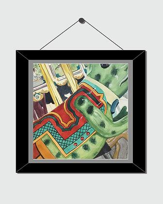 Carousel Frog Watercolor Print