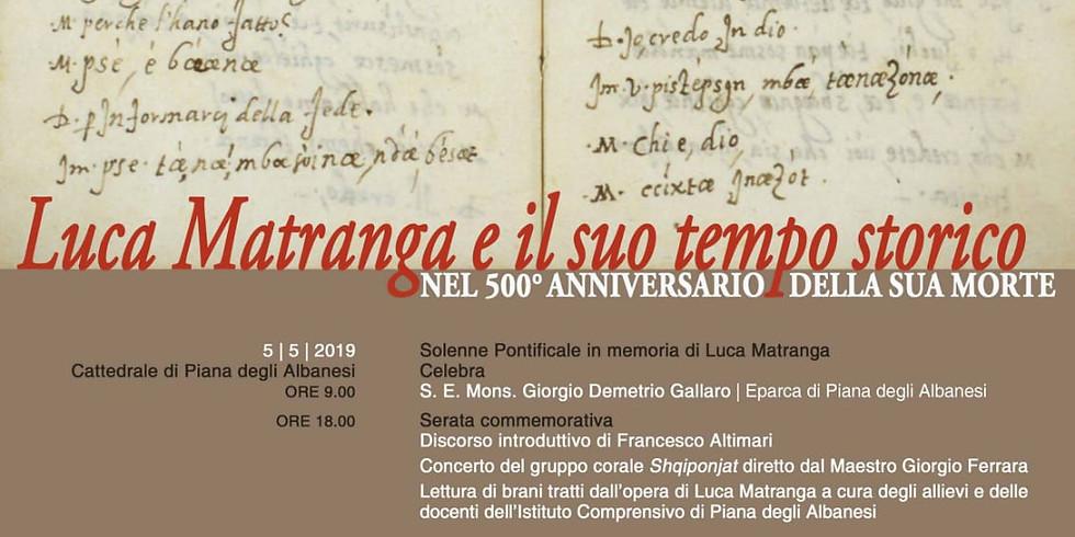 Luca Matranga e il suo tempo storico