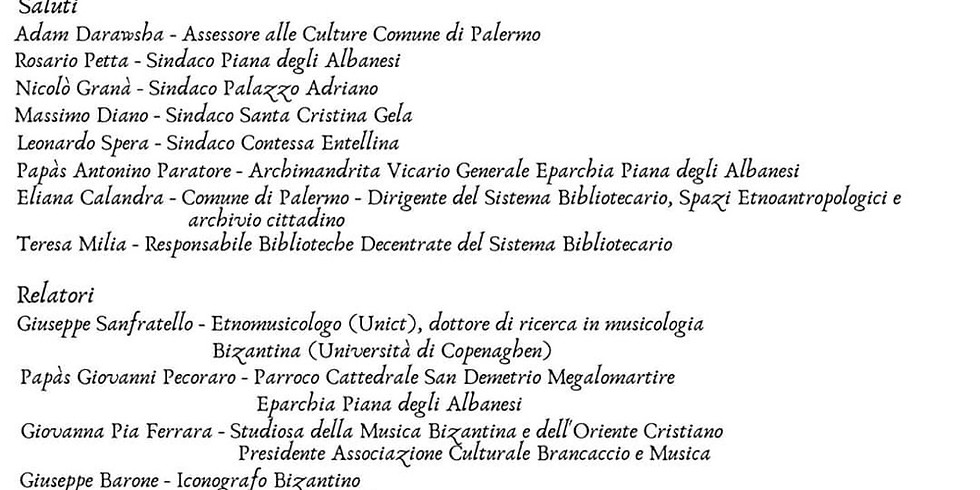 Arte, cultura, musica bizantina ed Arbëreshë in memoria di sua Eccellenza Papas Sotir Ferrara