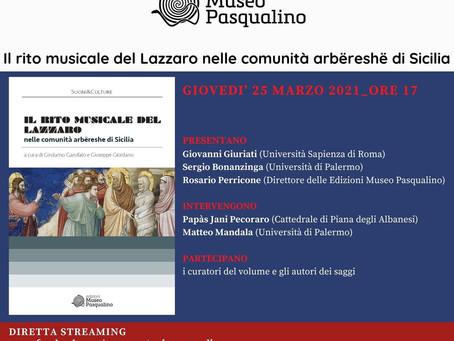 Il rito musicale del Lazzaro nelle comunità Arbëreshë di Sicilia