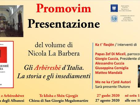 """Presentazione del volume """"Gli Arbëreshë d'Italia"""""""