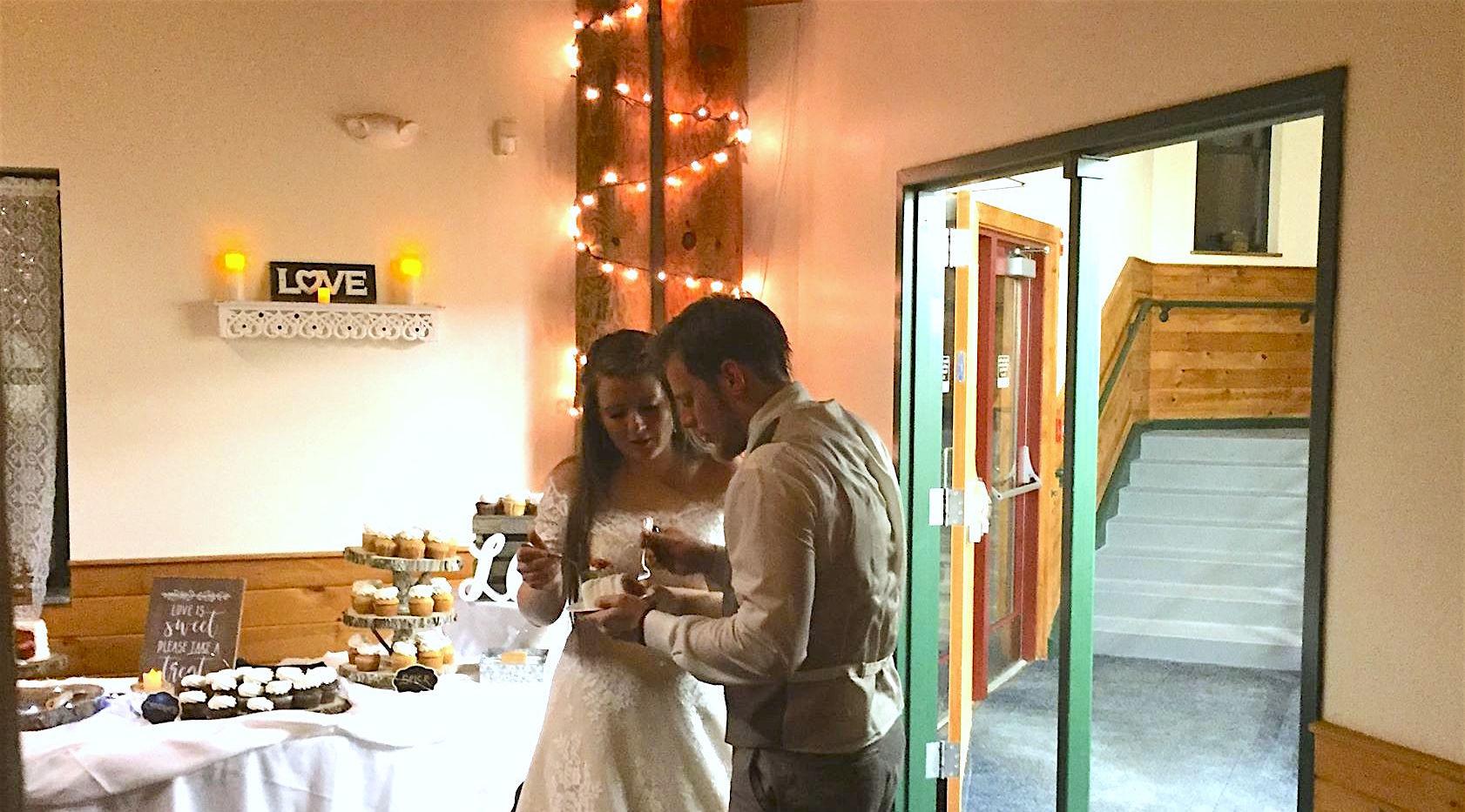 David and Kristin Cake Cutting