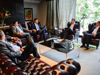Em reunião com Mendes, diretoria de concessionária promete mais 3 terminais em MT