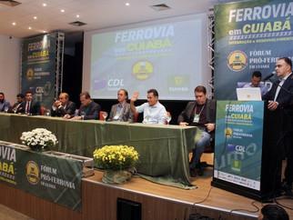 Fórum debate chegada da ferrovia Vicente Vuolo em Cuiabá