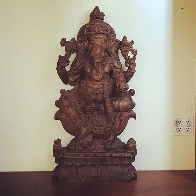 My Fav #Ganesha is IN the studio 🙏😊😊and it feels just right..! GANPATI BAPPA MORYA .