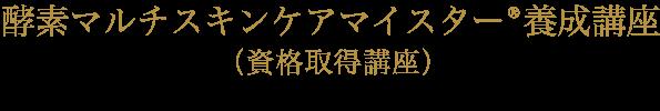 酵素マルチスキンケアマイスター養成講座(資格取得講座)