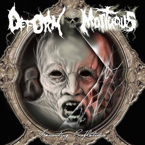 """Deform/Mortuous - Lamenting Reflections Split 7"""" (White Vinyl)"""