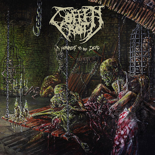 Coffin Rot - A Monument to the Dead LP (Green Marble Vinyl)