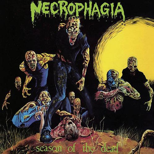 Necrophagia - Season of the Dead LP (Neon Yellow/Black Splatter)