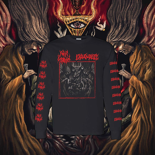 Father Befouled/Exaugurate - Purging Holiness Long Sleeve (Medium)