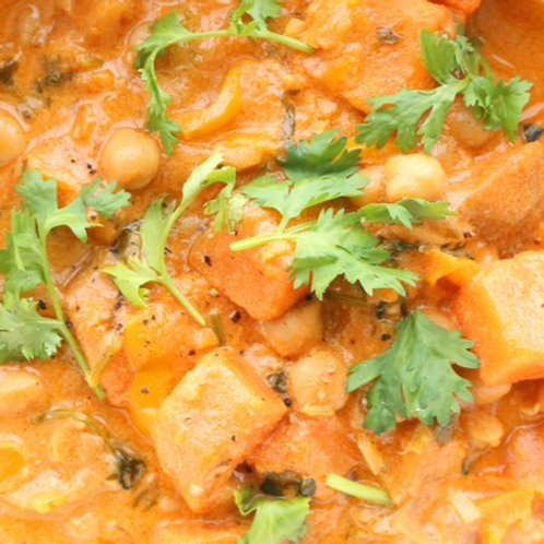 Sweet Potato & Coconut Curry (GF*) - Chilled Meal Options from