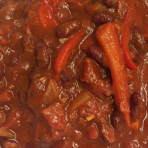 Smoky Roasted Pepper & Red Bean Chilli (GF*) - Chilled Meal Options from