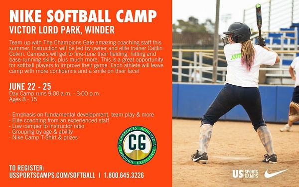 Softball Camp Flyer2 - Victor Lord Park.
