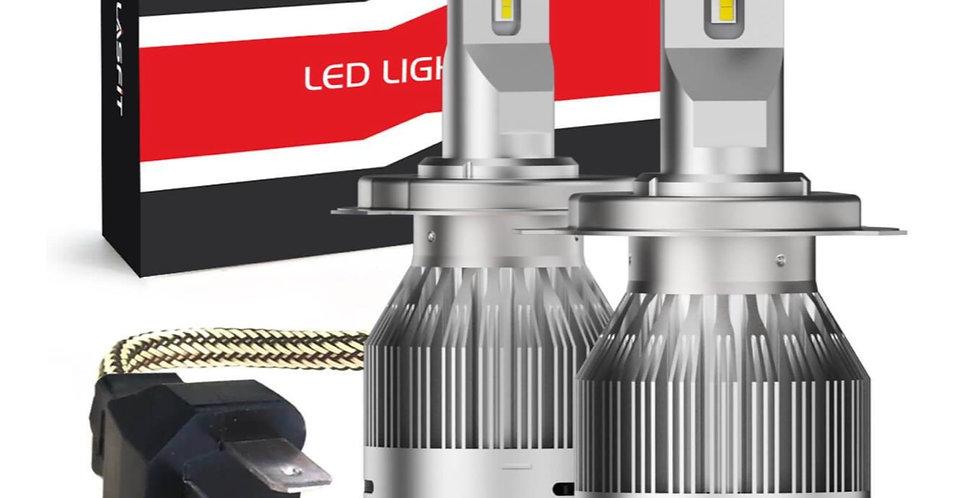 LA Plus Series 9003 H4 HB2 LED Headlight 72W 7600LM 6000K Amplified Flux Beam