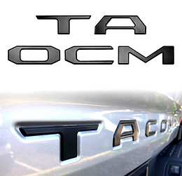 """""""TACOMA"""" TAILGATE LETTERING INSERTS FOR TACOMA (FIT: 2016-2021)"""