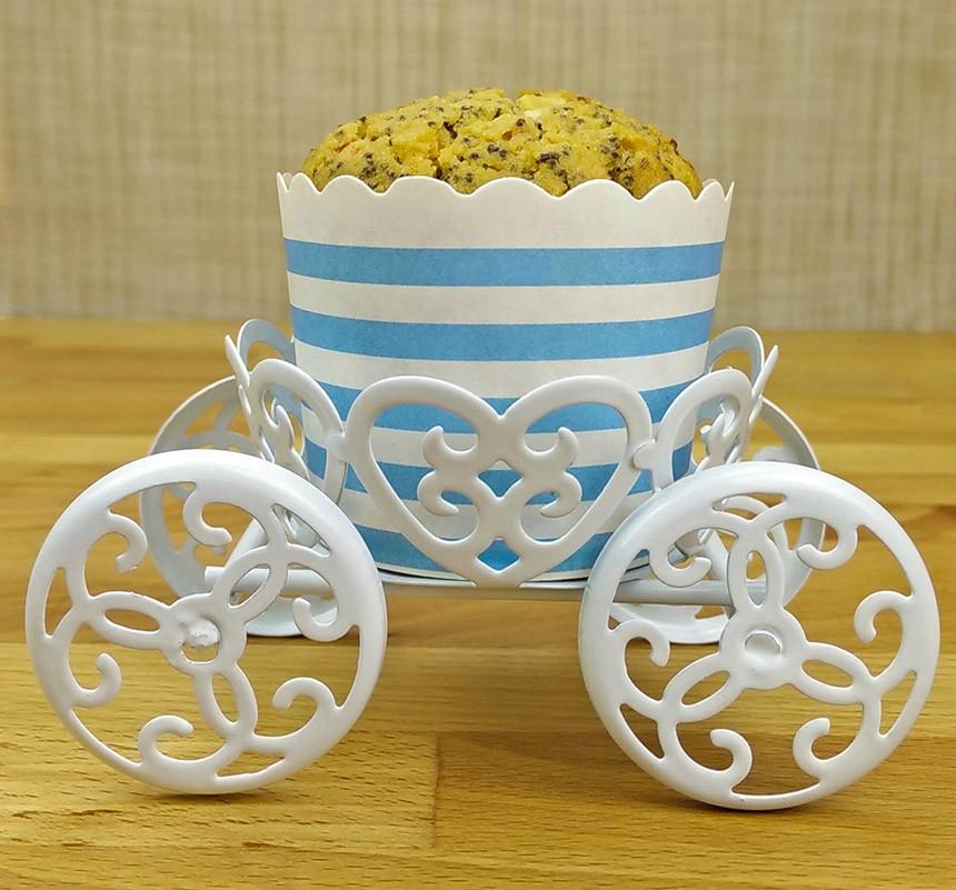 Muffin con farina di riso e semi di papavero