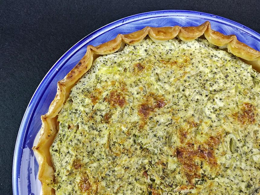 Torta salata di broccoli e salmone affumicato - SENZA GLUTINE