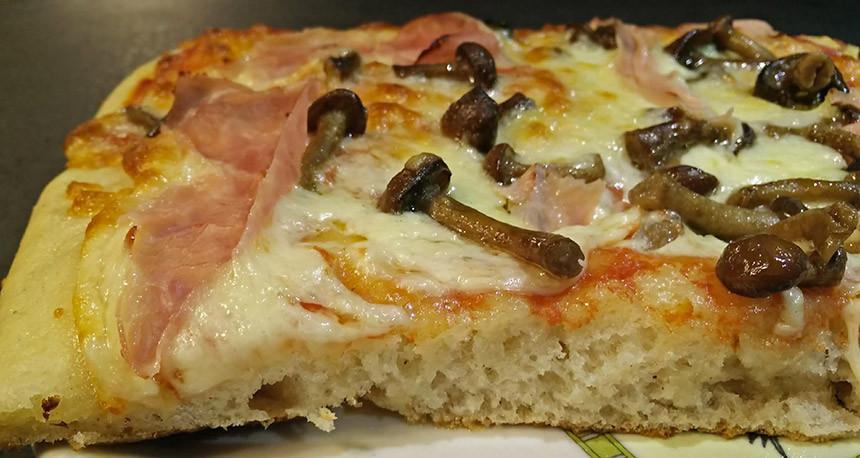 Pizza SENZA GLUTINE con farina di sorgo in teglia