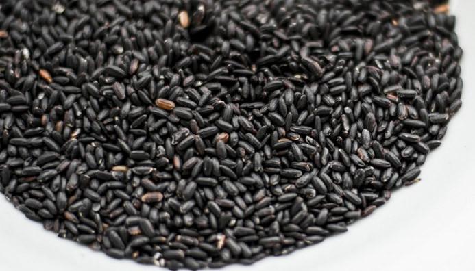 Il riso venere o riso nero integrale