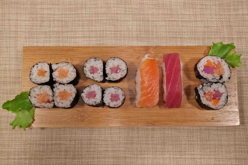Sushi e sashimi a casa