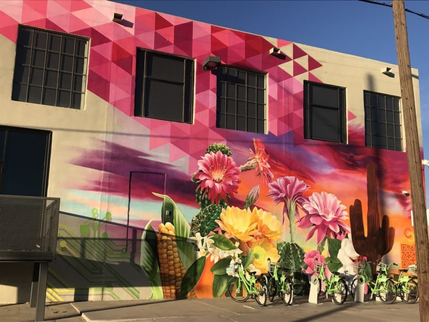 Lalo Cota mural at Carly's Bistro