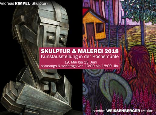 """Die Ausstellung """"Skulptur und Malerei"""" fand vom 19. Mai bis 23. Juni 2018 statt."""