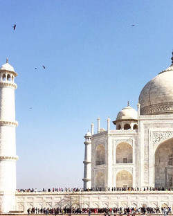 Fila Indiana #tajmahal #escalahumana #agra #india #slc_blue