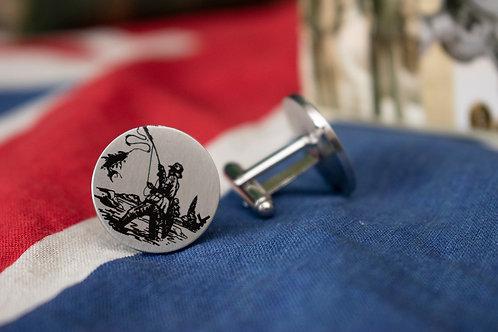 Fishing cufflinks