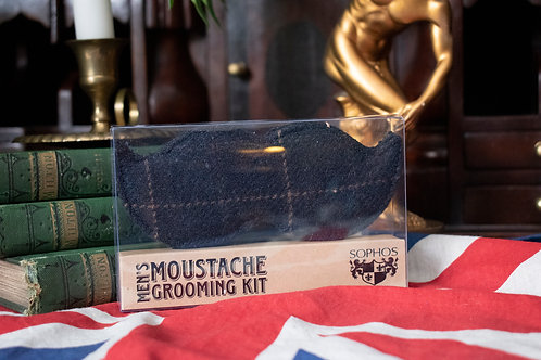 Moustache shaped grooming kit