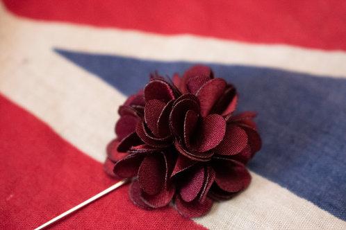 Wine flower lapel pin