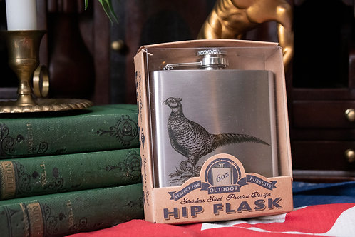 handsome pheasant hip flask