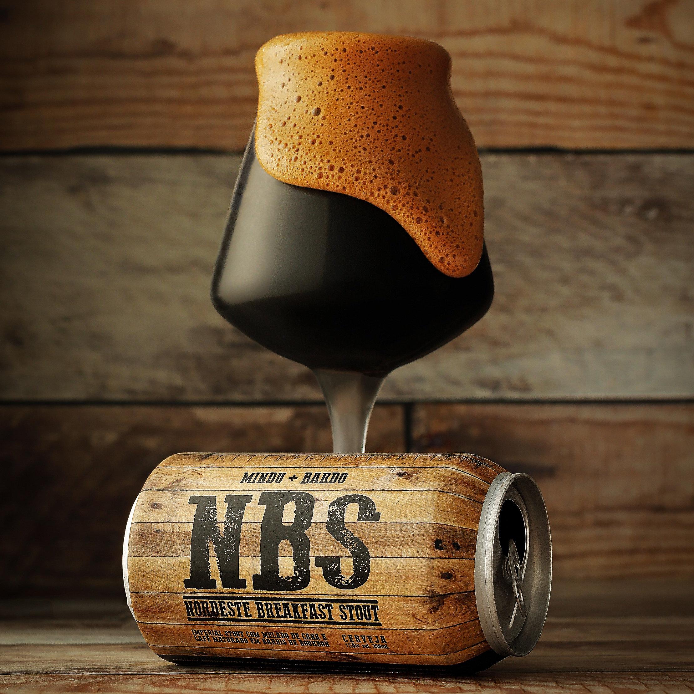 Cerveja artesanal Mindu + Bardo NBS Nordeste Breakfast Stout RIS – Mindubier 350 ml