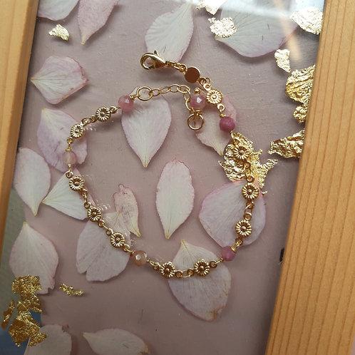 Bracelet PRINTEMPS doré / tourmaline