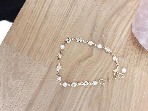Bracelet PRINTEMPS doré / pierre de lune