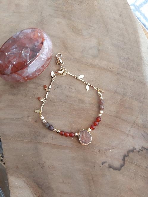 Bracelet EXTRAORDINAIRE pierre de soleil