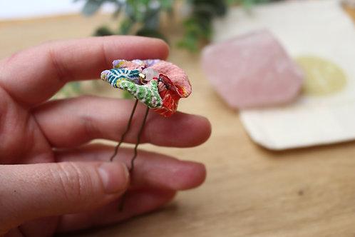 épingle à chignon rose