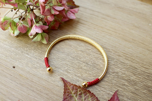 Bracelet jonc CEPHEE rouge