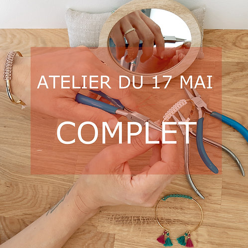 Atelier bijou vendredi 17 mai de 18h30 à 19h45