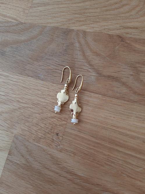 boucles d'oreilles Cléopâtre nacre