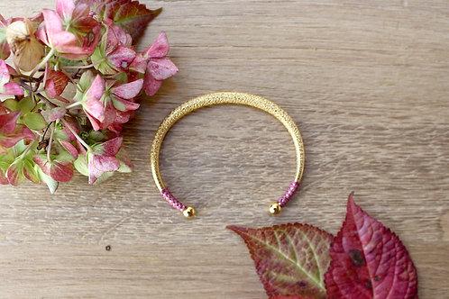 Bracelet jonc CEPHEE rose